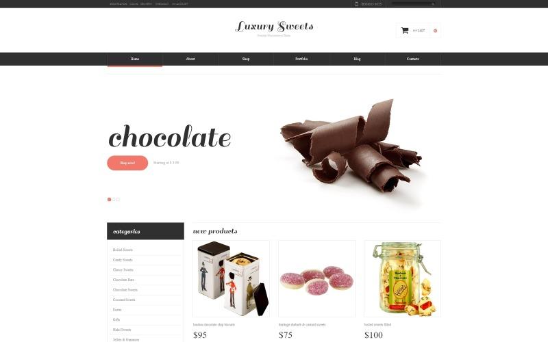 Thème WooCommerce réactif de Sweet Shop
