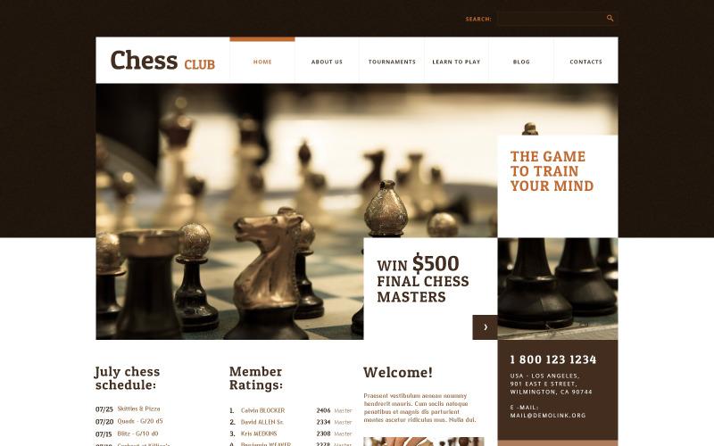 WordPress motiv Šachový klub
