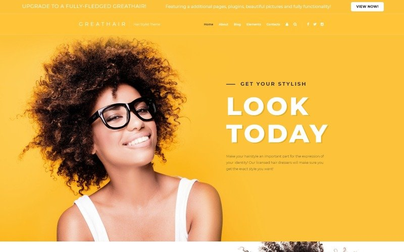Great Hair-美发沙龙时尚的Joomla模板