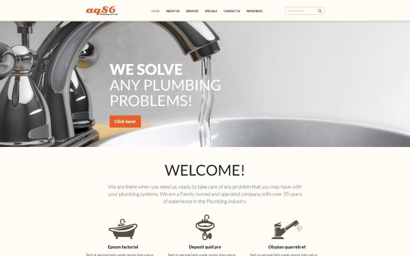 Plumbing Responsive Joomla Template