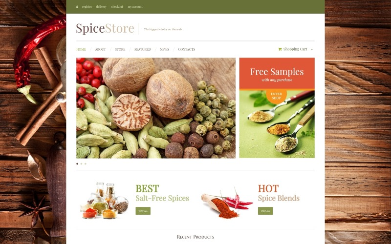 Spice Shop Motyw WooCommerce