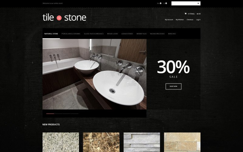 Tile  Stone Store Magento Theme