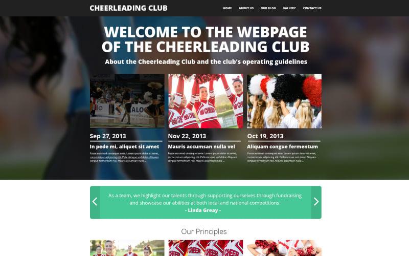Modèle Drupal de Cheerleading Club
