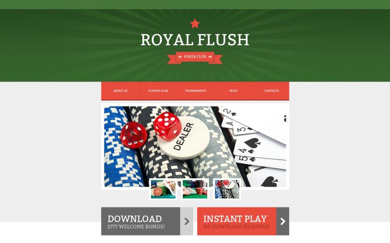Modello di sito Web reattivo di poker online