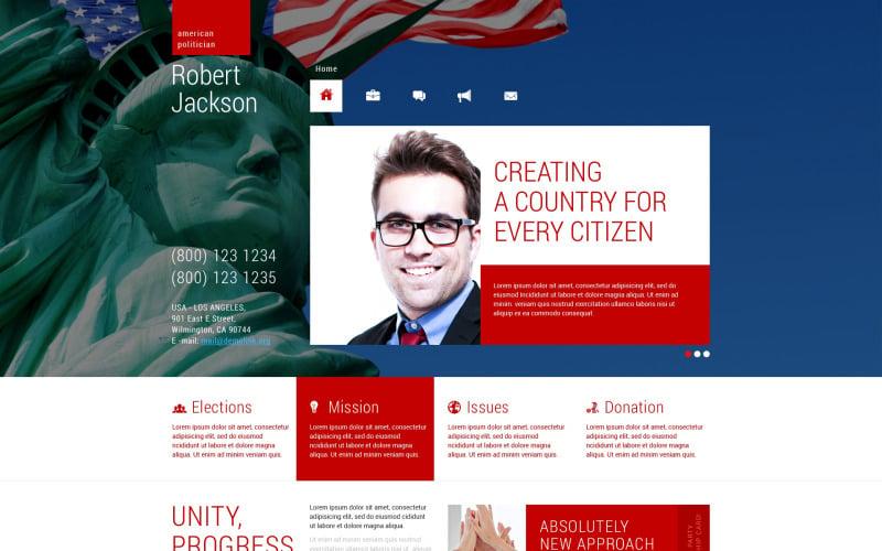 Political Candidate Responsive WordPress Theme