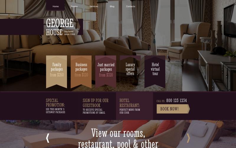 Адаптивная тема WordPress для отелей