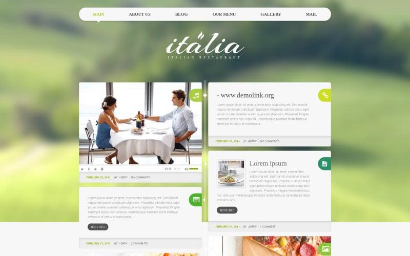 Italian Restaurant Responsive WordPress Theme