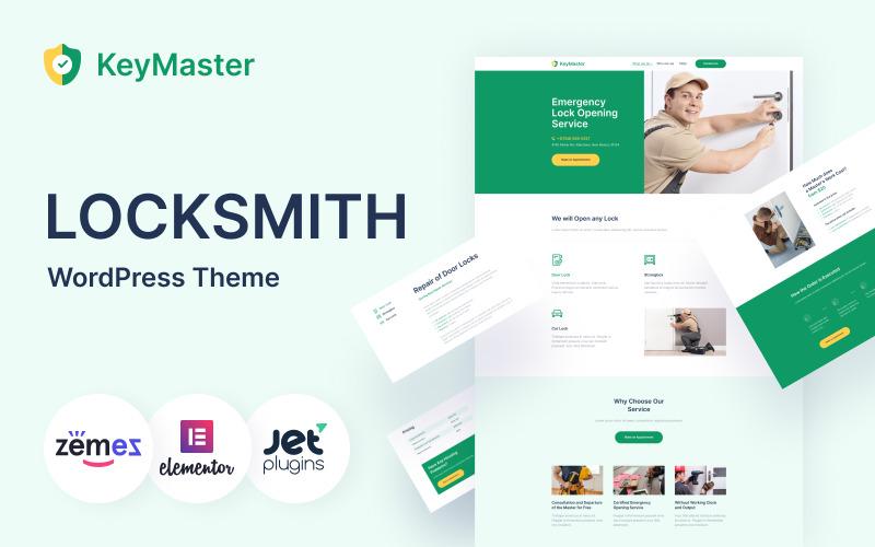 KeyMaster - тема WordPress для служб безопасности