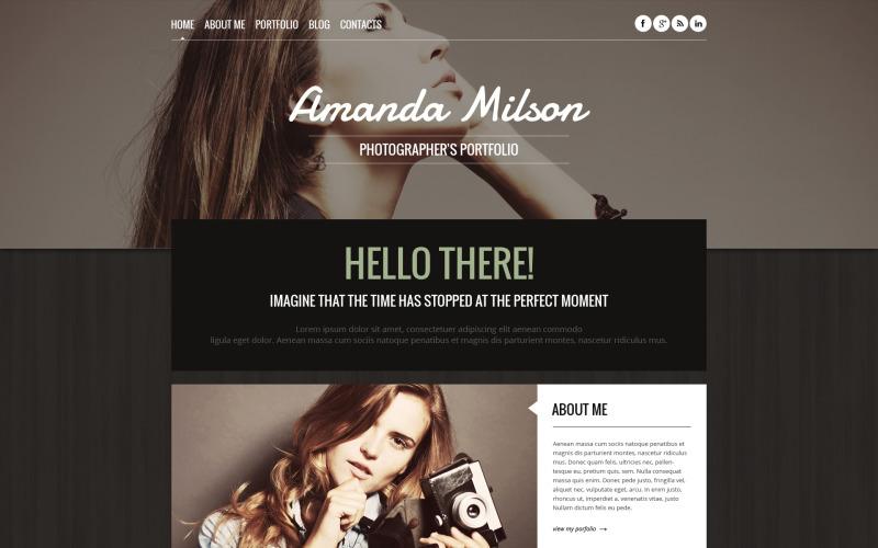 Адаптивная тема WordPress для портфолио фотографа