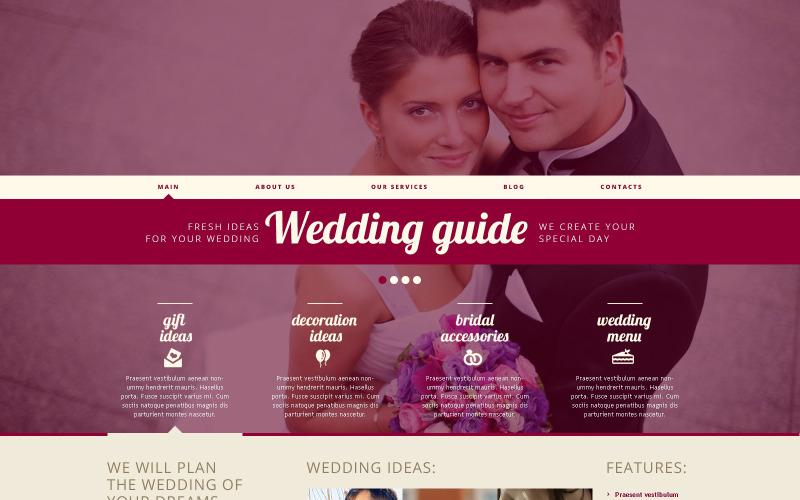 Адаптивная тема WordPress для свадебного планировщика