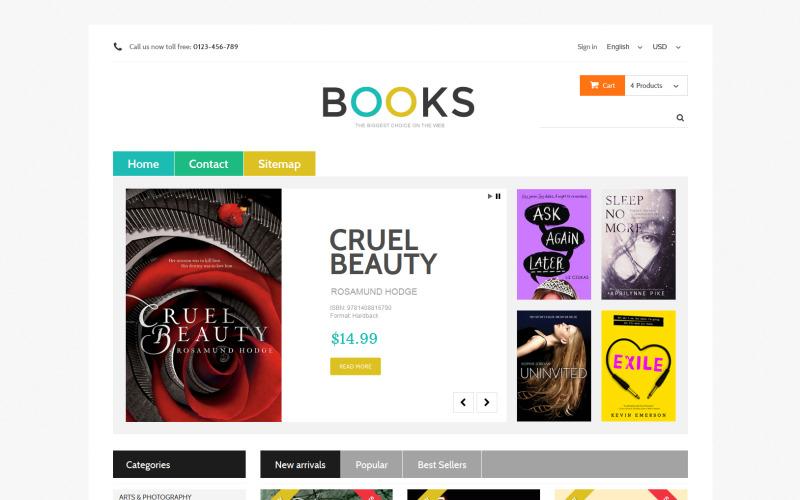 Online Bookstall PrestaShop Theme