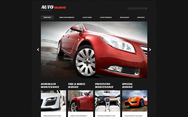 Plantilla Joomla adaptable para reparación de automóviles
