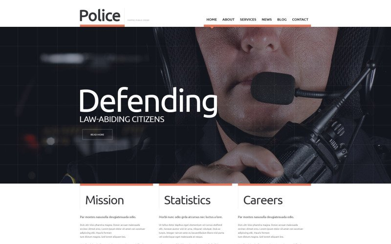 Police Responsive Website Template