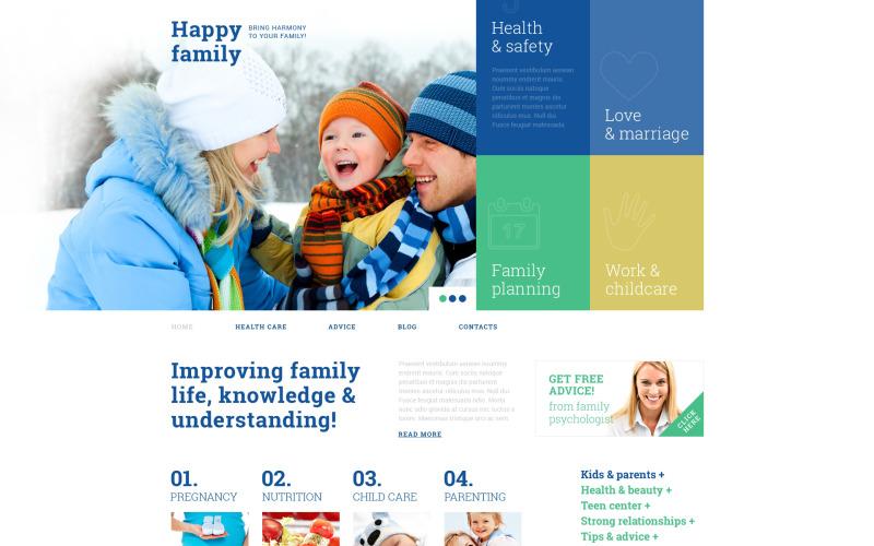 Family Center Responsive WordPress Theme