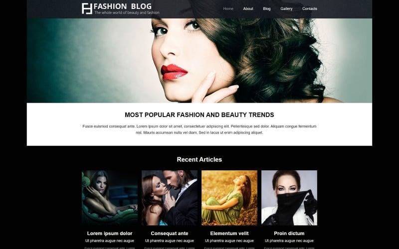 Fashion Blog - Fashion Blog Elegant Joomla Template