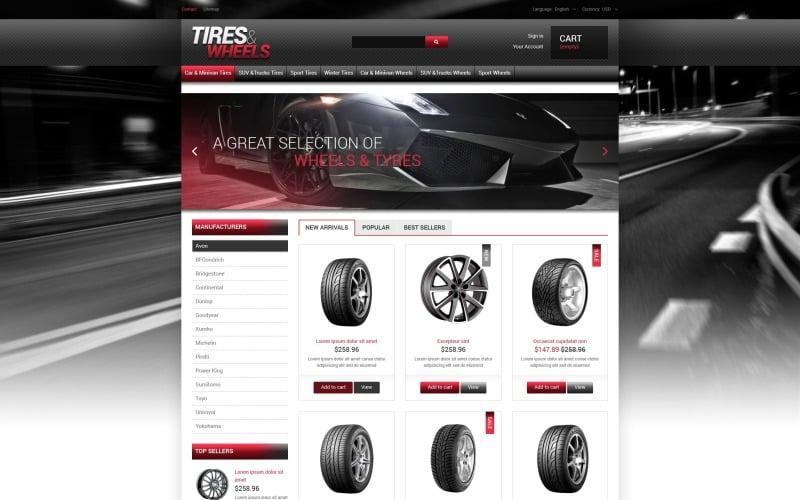 Tires  Wheels for Autos PrestaShop Theme
