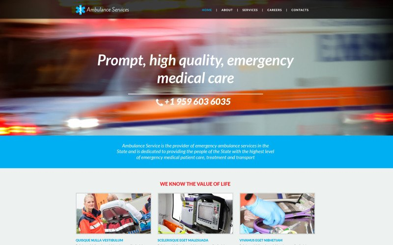 Ambulance Responsive Website Template