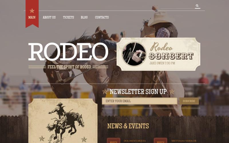 Адаптивная тема WordPress для лошадей