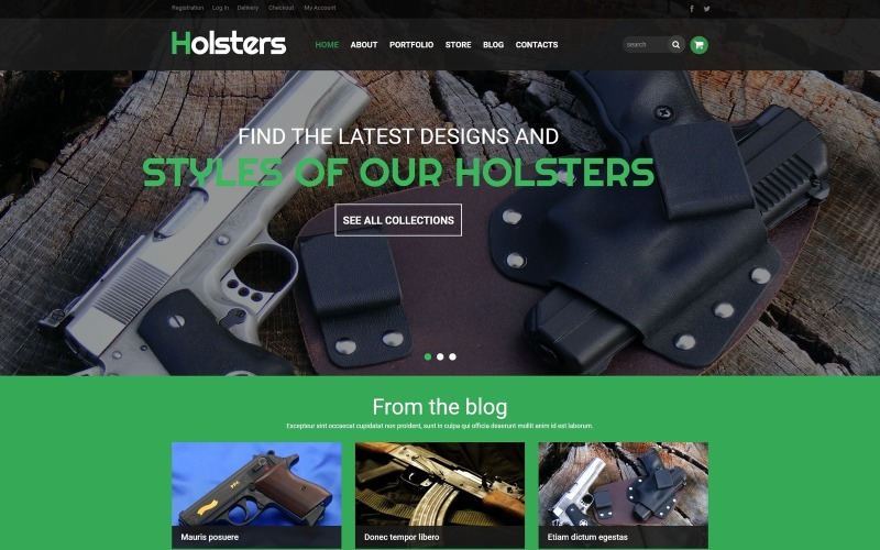 Buy  Carry Holster Store WooCommerce Theme