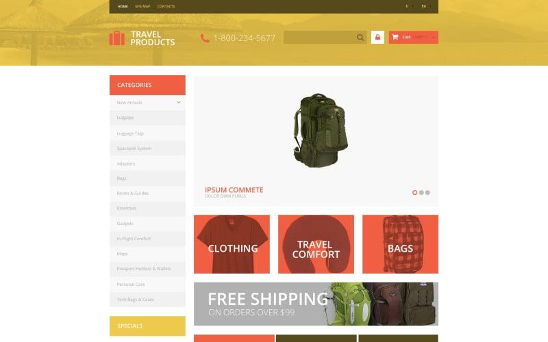 Free Travel Store PrestaShop Template PrestaShop Theme
