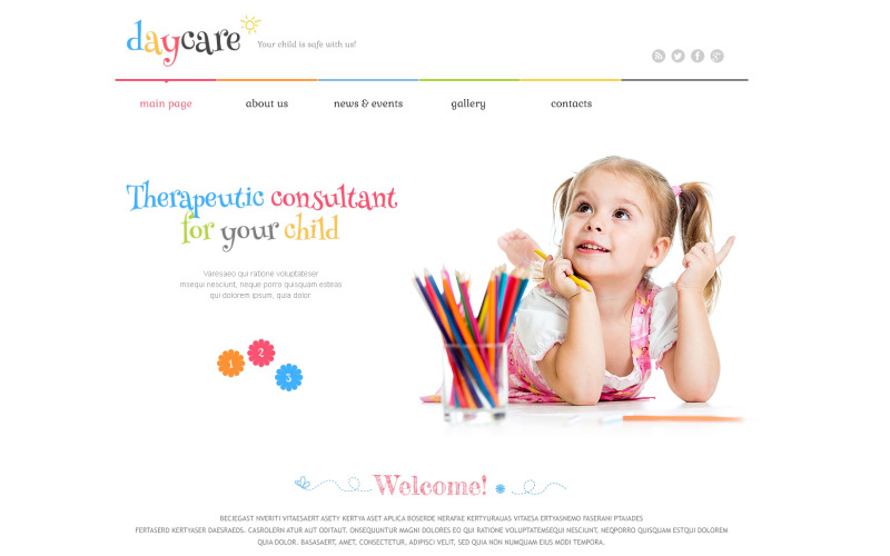 Responsief WordPress-thema voor kinderopvang