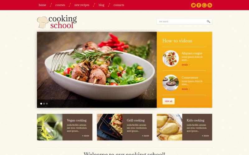 Šablona WordPress reagující na školu vaření