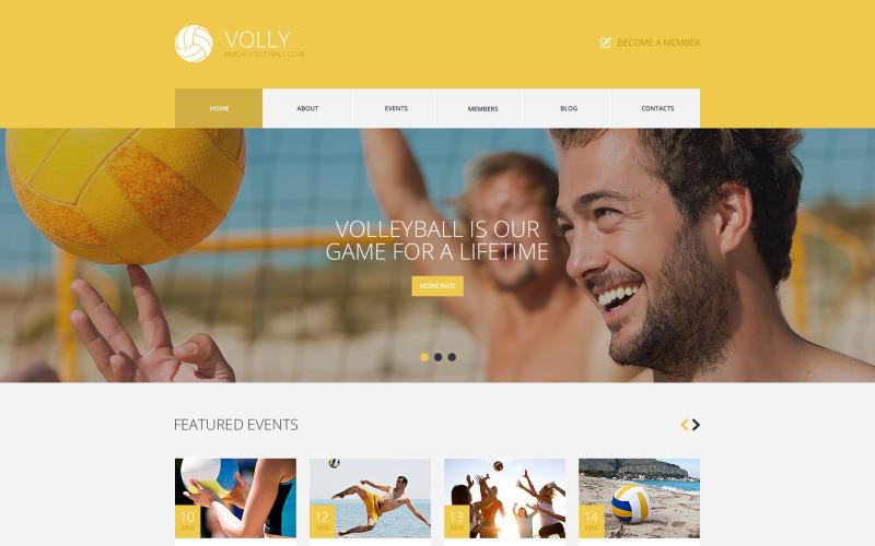 WordPress motiv Plážový volejbalový klub