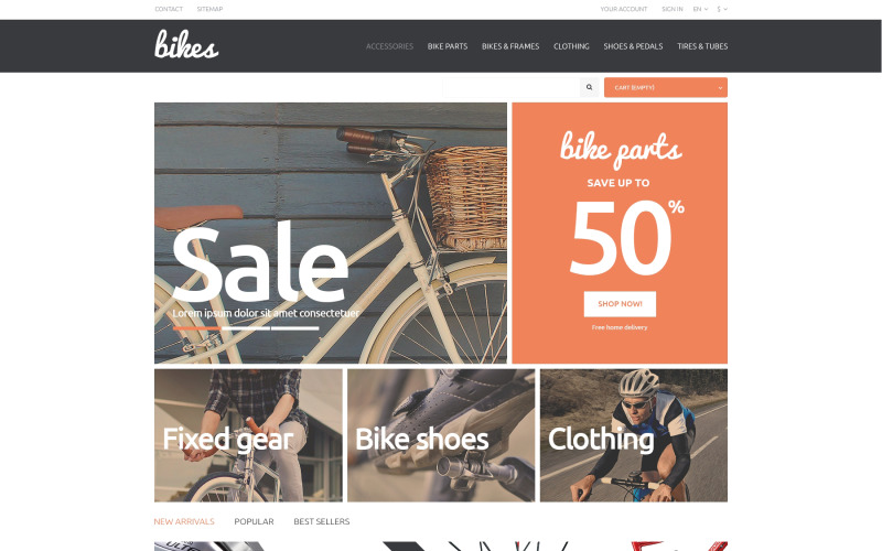 Bikes PrestaShop Theme