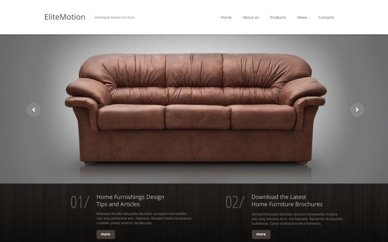 Bútorra érzékeny webhelysablon