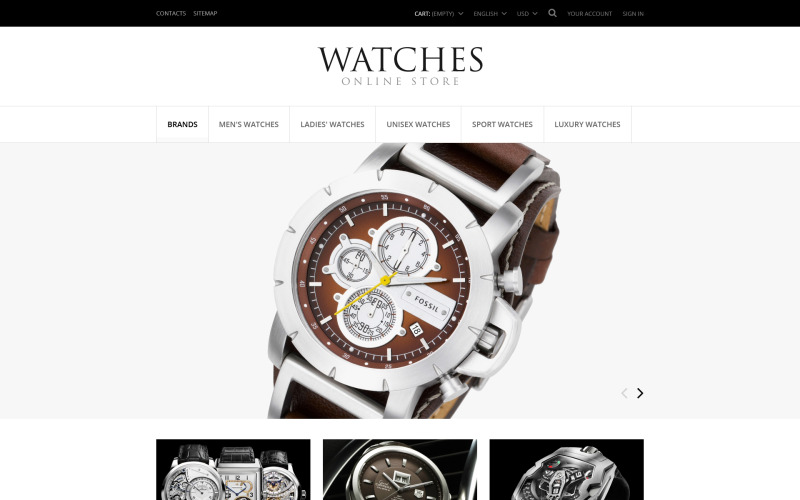 Exclusive Watches PrestaShop Theme
