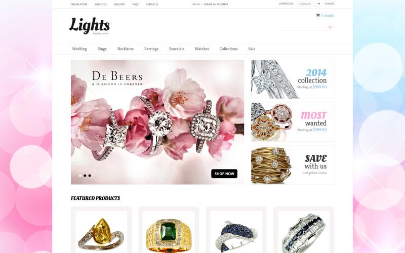Jewelry VirtueMart Template