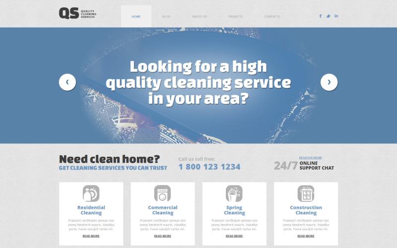 Tema WordPress responsivo para limpeza de janelas