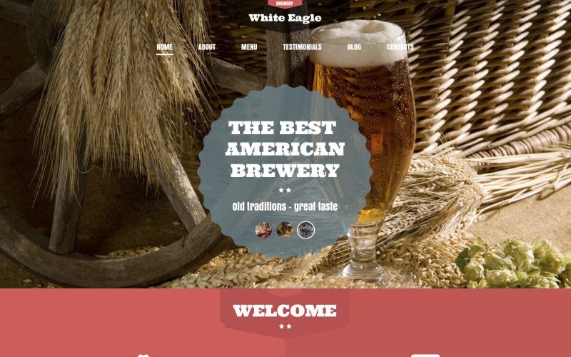 A legjobb amerikai sörfőzde WordPress téma