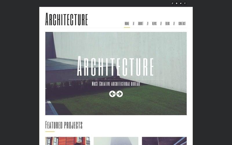 Minimalism in Architecture Joomla Template