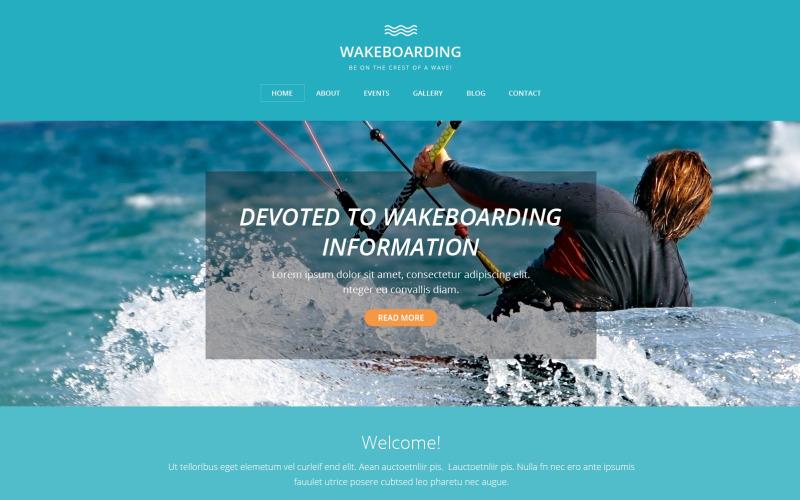 Modèle Drupal de wakeboard
