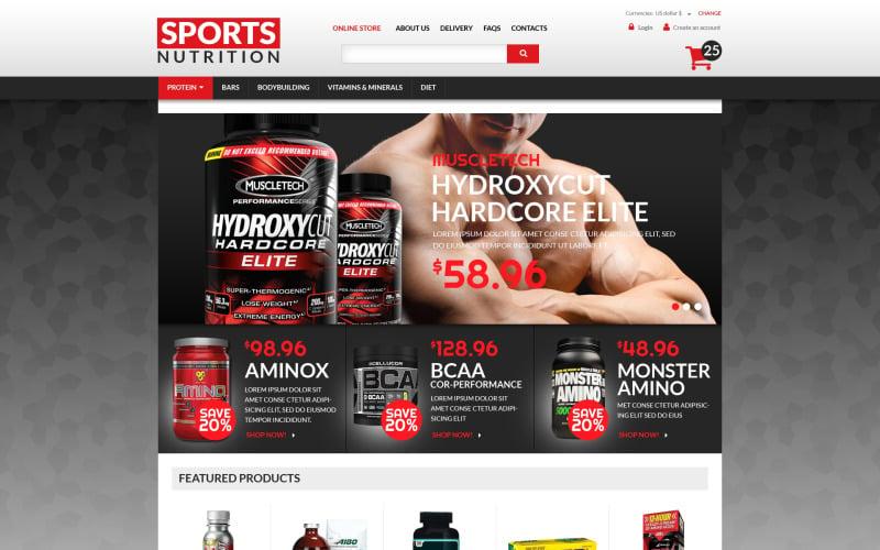 Sports Nutrition Supplements VirtueMart Template