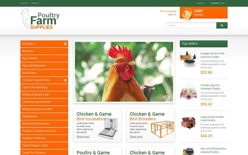 Тема PrestaShop «Товары для птицефабрики»