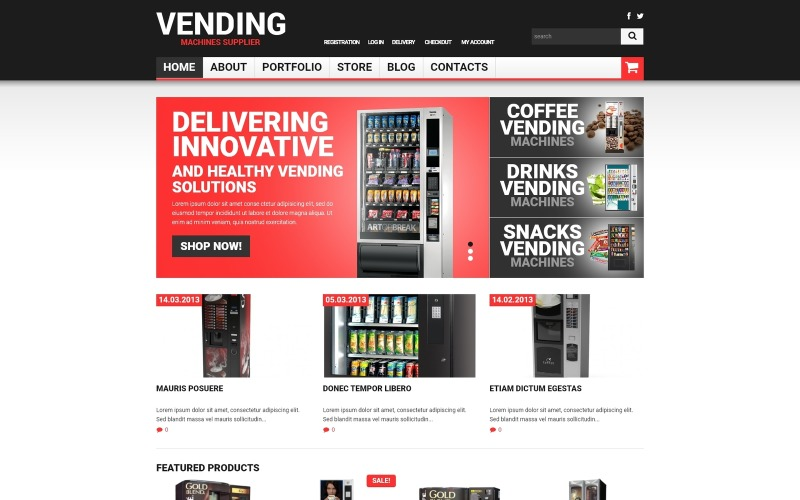 Vending Machines Responsive WooCommerce Theme