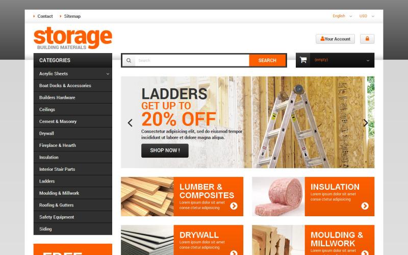 Durable Building Materials PrestaShop Theme