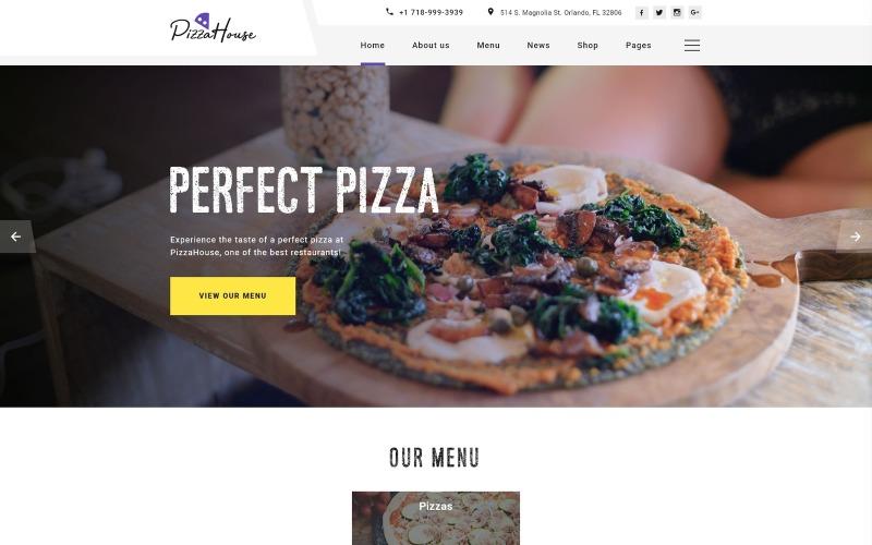 Pizza House Mehrseitige HTML-Website-Vorlage