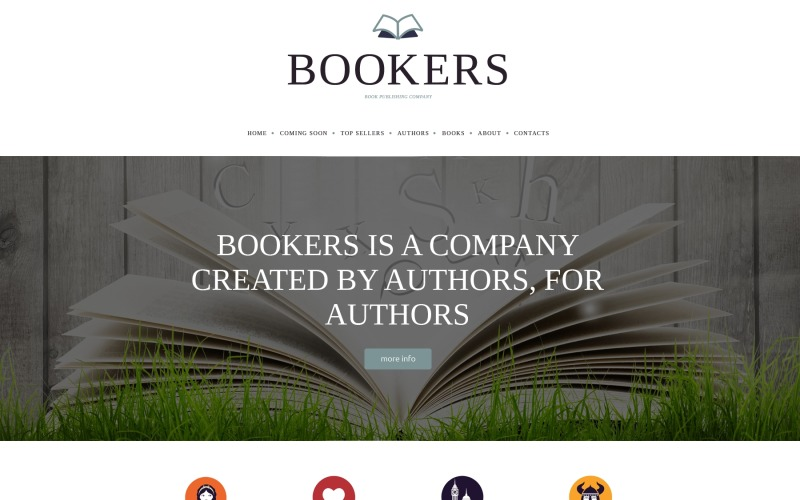 Publishing Company Responsive Website Template