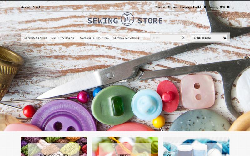Тема PrestaShop для любителей шитья