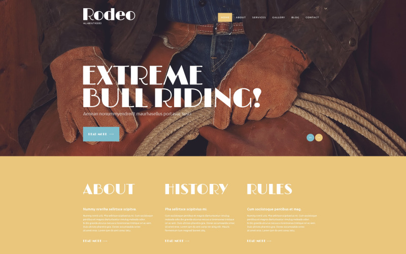 Verfijnd Rodeo Club WordPress-thema
