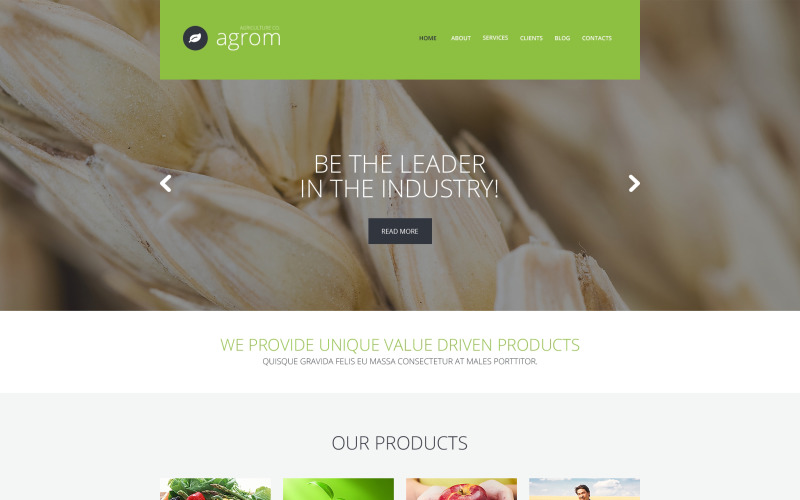 WordPress тема службы мечты фермера