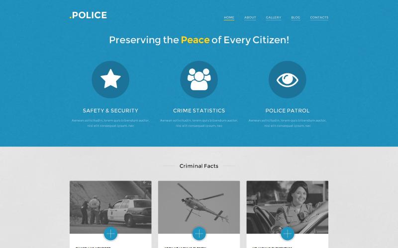 Motyw WordPress dla policji
