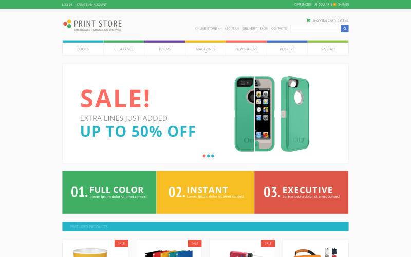 Print Store VirtueMart Template