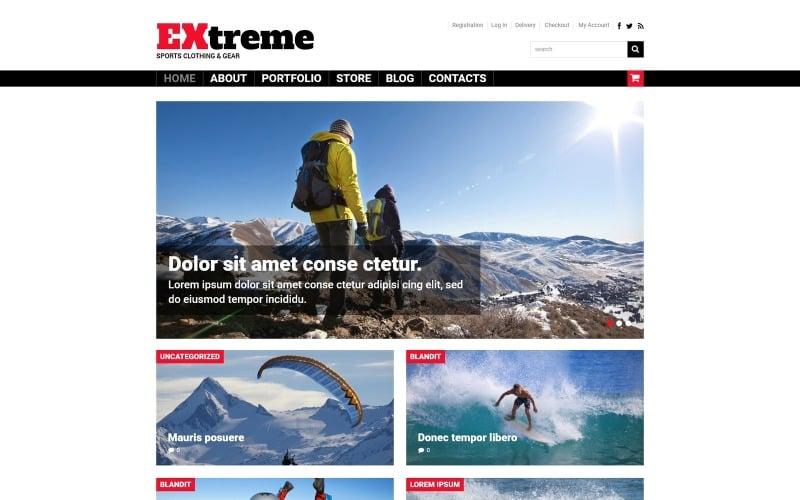 Extreme Sports Shop WooCommerce Theme