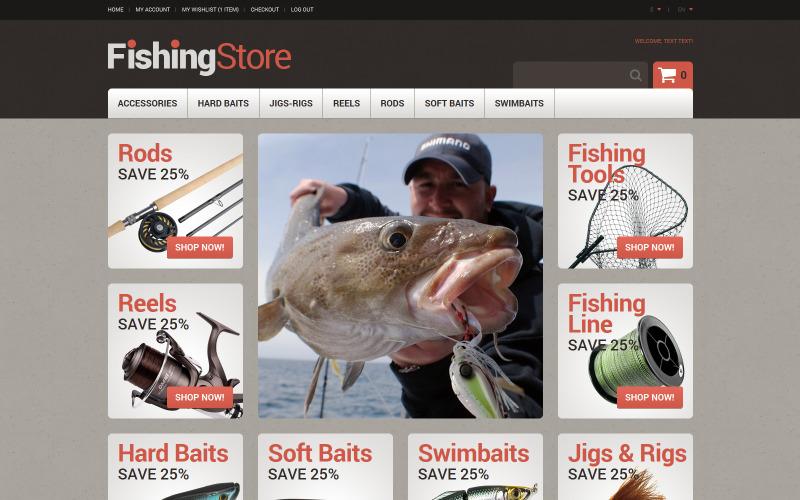 Useful Fishing Accessories Magento Theme