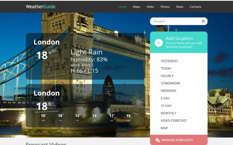 Weather Responsive WordPress Theme