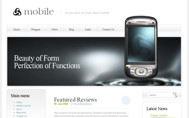Mobile Store PSD Template